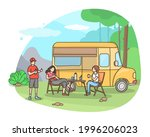outdoor recreation. weekend in... | Shutterstock .eps vector #1996206023