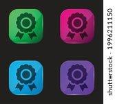 award four color glass button...