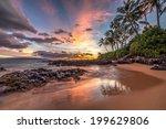 hawaiian sunset wonder | Shutterstock . vector #199629806