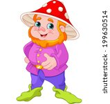illustration of cute gnome with ... | Shutterstock .eps vector #199630514
