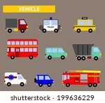 flat vector vehicle icon | Shutterstock .eps vector #199636229
