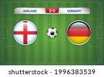 england vs germany scoreboard... | Shutterstock .eps vector #1996383539
