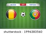 belgium vs portugal scoreboard... | Shutterstock .eps vector #1996383560