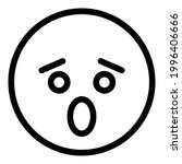 fearful face icon. outline... | Shutterstock .eps vector #1996406666
