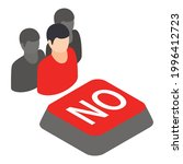 no gathering icon. isometric... | Shutterstock .eps vector #1996412723