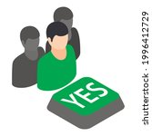 yes gathering icon. isometric... | Shutterstock .eps vector #1996412729
