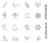 nature icons line drawing by... | Shutterstock .eps vector #199644650