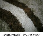 Defocus Of Fluffy Wool Rug With ...