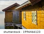 Old Wooden Boathouse At A...