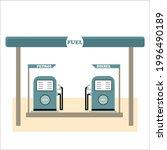 fuel filling machine for... | Shutterstock .eps vector #1996490189