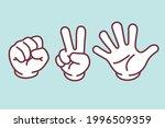 rock paper scissors hand sign... | Shutterstock .eps vector #1996509359