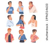 young people thinking or... | Shutterstock .eps vector #1996514633