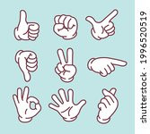 stop  pointing  thumbs up  hand ... | Shutterstock .eps vector #1996520519