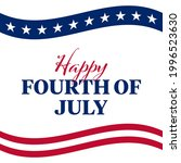 happy 4th of july square banner ... | Shutterstock .eps vector #1996523630