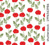 seamless pattern poppies...   Shutterstock .eps vector #1996563986