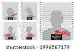 set of criminal mug shot line... | Shutterstock .eps vector #1996587179