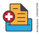medical record flat color icon... | Shutterstock .eps vector #1996587209