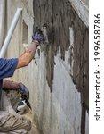 exterior basement wall... | Shutterstock . vector #199658786
