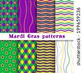 mardi gras vector different... | Shutterstock .eps vector #199659236
