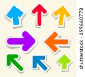 colorful paper arrows set | Shutterstock . vector #199660778