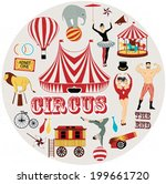 circle pattern of the circus | Shutterstock .eps vector #199661720