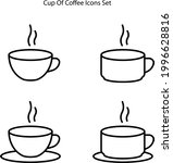 coffee icons set isolated on...