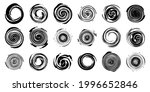 a set of round swirling...   Shutterstock .eps vector #1996652846