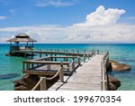 beautiful tropical beach in koh ... | Shutterstock . vector #199670354