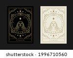 virgo zodiac symbol with... | Shutterstock .eps vector #1996710560