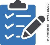 task list vector glyph colour...