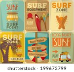 Surf Retro Posters Collection...
