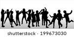 vector silhouette of children... | Shutterstock .eps vector #199673030