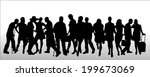 vector silhouettes of different ... | Shutterstock .eps vector #199673069