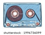 hand drawn music audio cassette | Shutterstock .eps vector #1996736099