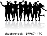 group of people  | Shutterstock .eps vector #199674470