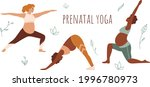 pregnant woman doing stretching ... | Shutterstock .eps vector #1996780973