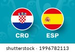 croatia vs spain match vector...   Shutterstock .eps vector #1996782113