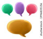 3d illustration of the speech...   Shutterstock .eps vector #1996835156