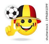 football fan emoji. vector... | Shutterstock .eps vector #1996841099