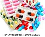 assorted pills | Shutterstock . vector #199686638