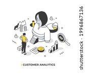 analyzing customer data to...   Shutterstock .eps vector #1996867136