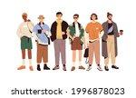 group portrait of fashion men... | Shutterstock .eps vector #1996878023