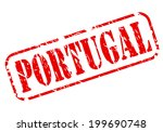 portugal red stamp text on white | Shutterstock .eps vector #199690748