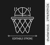 basketball white linear icon...   Shutterstock .eps vector #1996909436