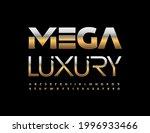 vector mega luxury alphabet set.... | Shutterstock .eps vector #1996933466