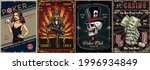 vintage gambling posters with... | Shutterstock .eps vector #1996934849