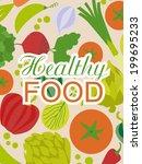 healthy food   Shutterstock .eps vector #199695233