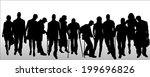 vector silhouettes of different ... | Shutterstock .eps vector #199696826