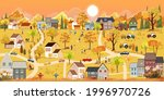 autumn landscape in city with... | Shutterstock .eps vector #1996970726