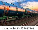 cargo railway shipping industry ... | Shutterstock . vector #199697969
